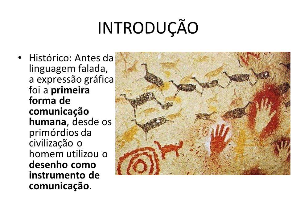INTRODUÇÃO Histórico: Antes da linguagem falada, a expressão gráfica foi a primeira forma de comunicação humana, desde os primórdios da civilização o