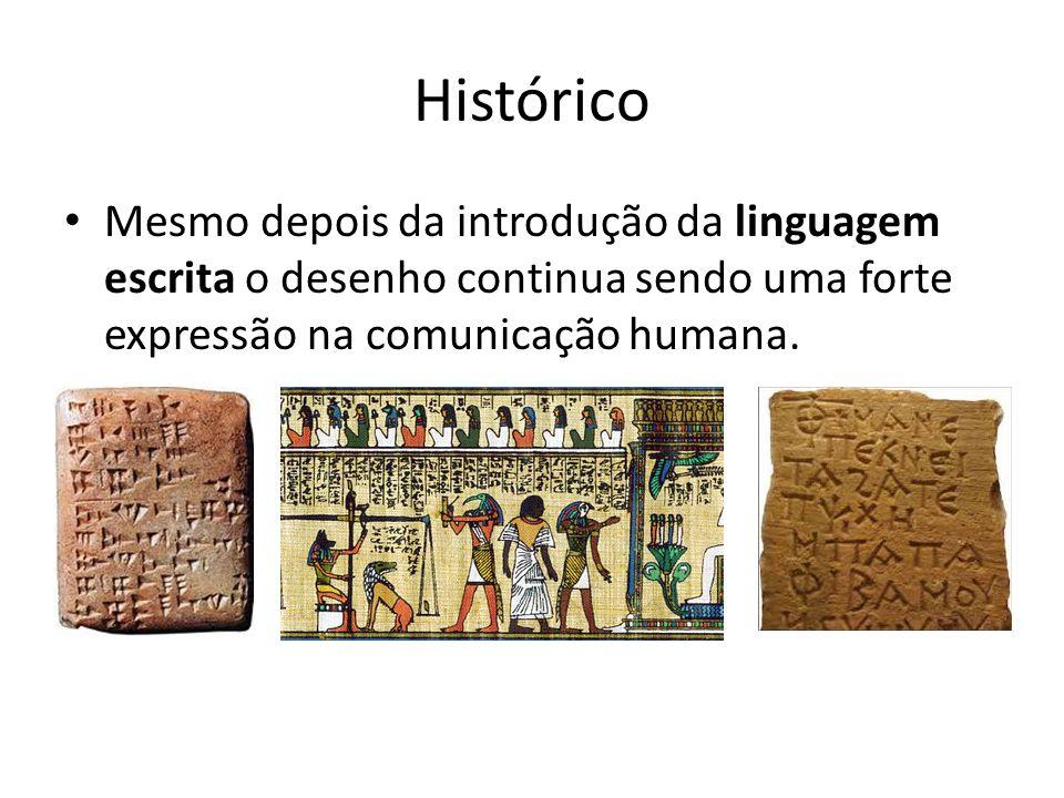 Histórico Mesmo depois da introdução da linguagem escrita o desenho continua sendo uma forte expressão na comunicação humana.