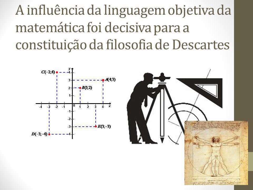 A influência da linguagem objetiva da matemática foi decisiva para a constituição da filosofia de Descartes