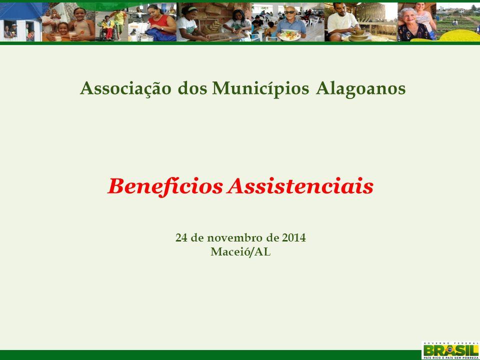 Associação dos Municípios Alagoanos Benefícios Assistenciais 24 de novembro de 2014 Maceió/AL