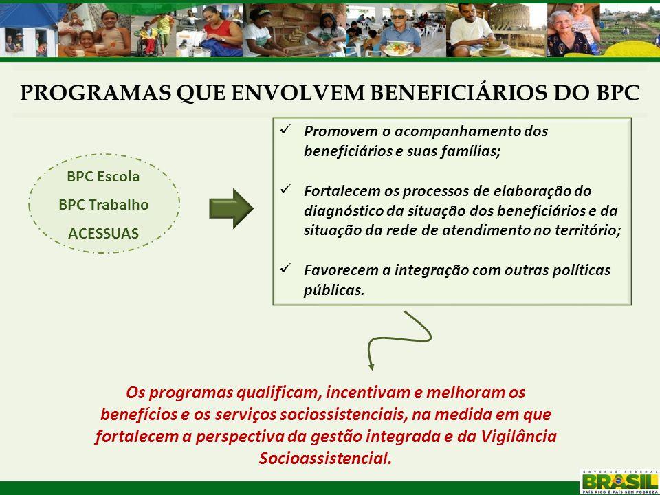 Promovem o acompanhamento dos beneficiários e suas famílias; Fortalecem os processos de elaboração do diagnóstico da situação dos beneficiários e da s