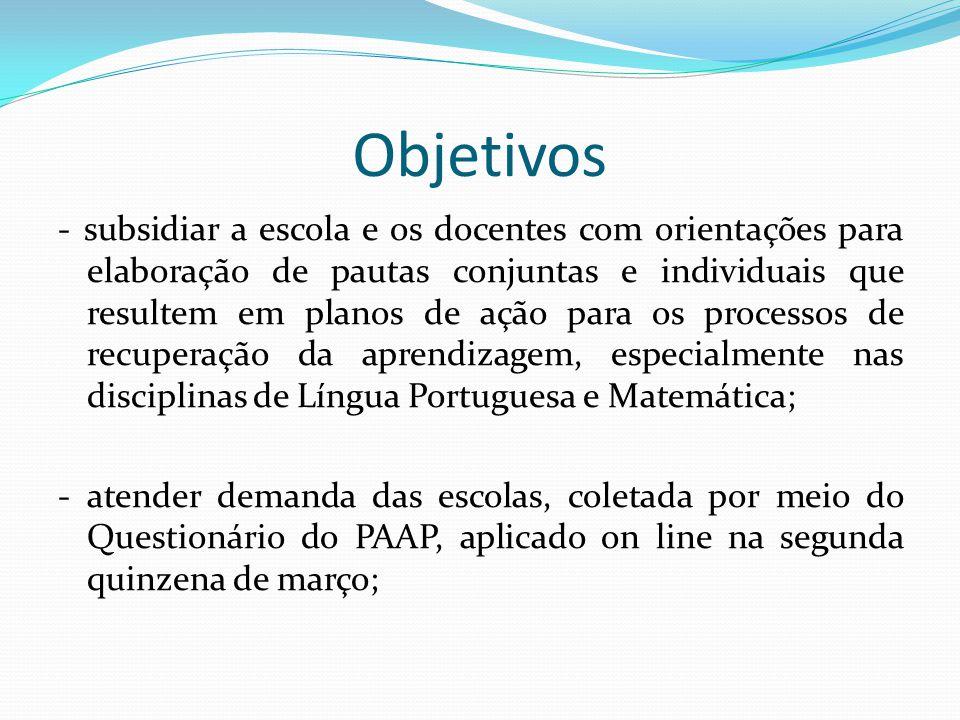 Público Alvo Serão aplicadas provas de Língua Portuguesa e Matemática para os alunos da rede estadual regular, do 6° e 7° anos do Ensino Fundamental e da 1ª e 2ª séries do Ensino Médio, no segundo semestre de 2012,.