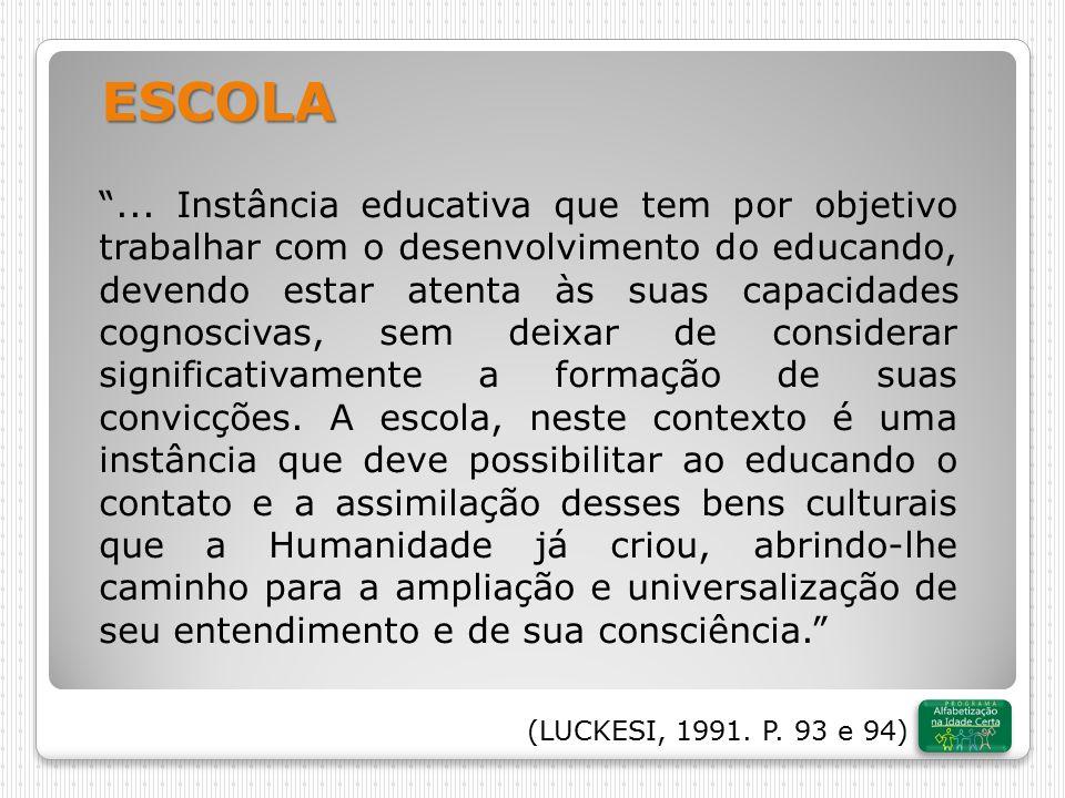 (WEISZ, 2002) Cuidado com os estigmas: Cada indivíduo tem um tempo e uma forma própria de aprendizagem.