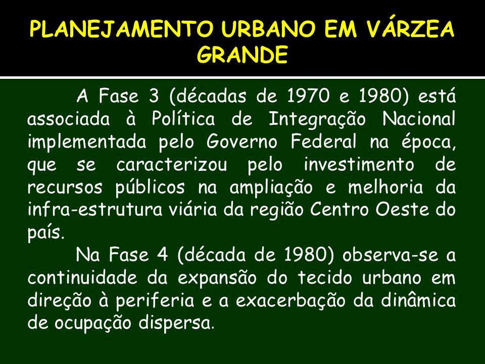 A Fase 3 (décadas de 1970 e 1980) está associada à Política de Integração Nacional implementada pelo Governo Federal na época, que se caracterizou pel
