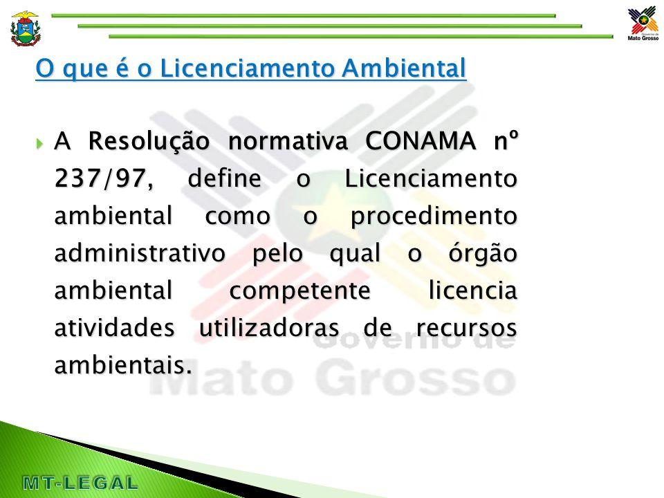 Licenciamento Ambiental  Logo o licenciamento ambiental é o instrumento que o poder público possui para controlar a instalação e operação das atividades, visando preservar o meio ambiente para a sociedade atual e futura.