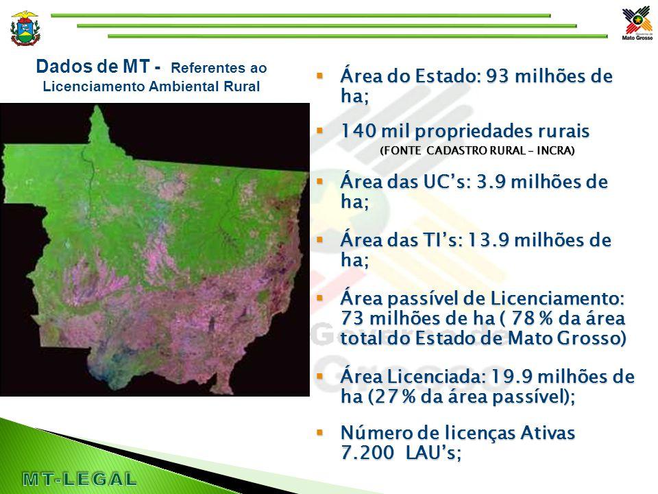 Operacionalização do SLAPR _____ _____  =  As imagens dos Imóveis rurais são Lançadas em uma Base Cartográfica de Mato Grosso na SEMA.