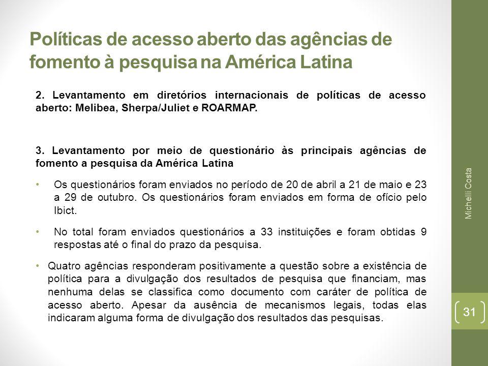 Políticas de acesso aberto das agências de fomento à pesquisa na América Latina 2.