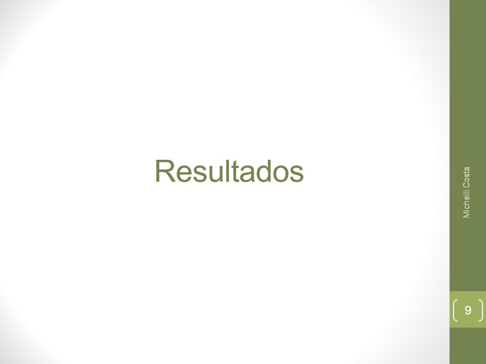 Resultados Michelli Costa 9