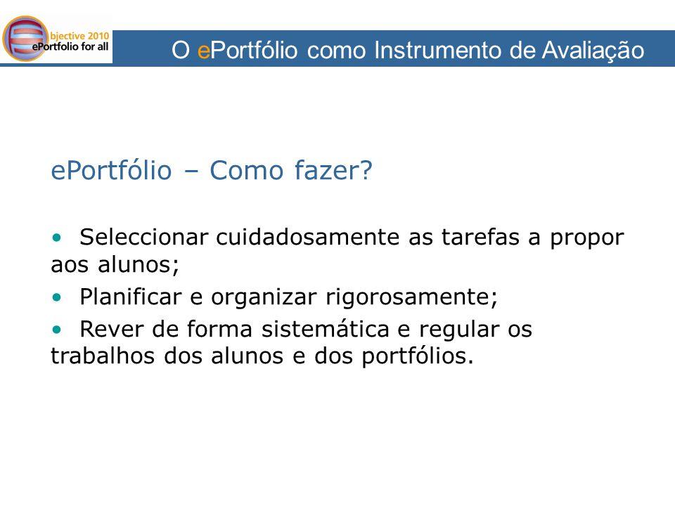 O ePortfólio como Instrumento de Avaliação Bibliografia Pinto, Teresa (2000).