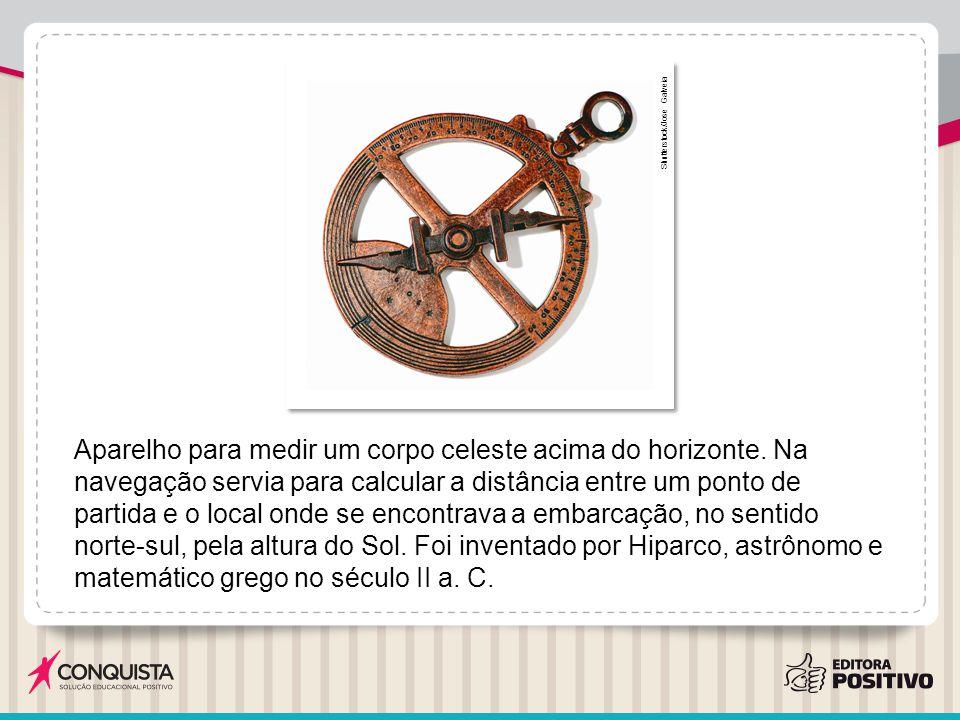 Outras invenções: Velocímetro – calculava a velocidade da embarcação.