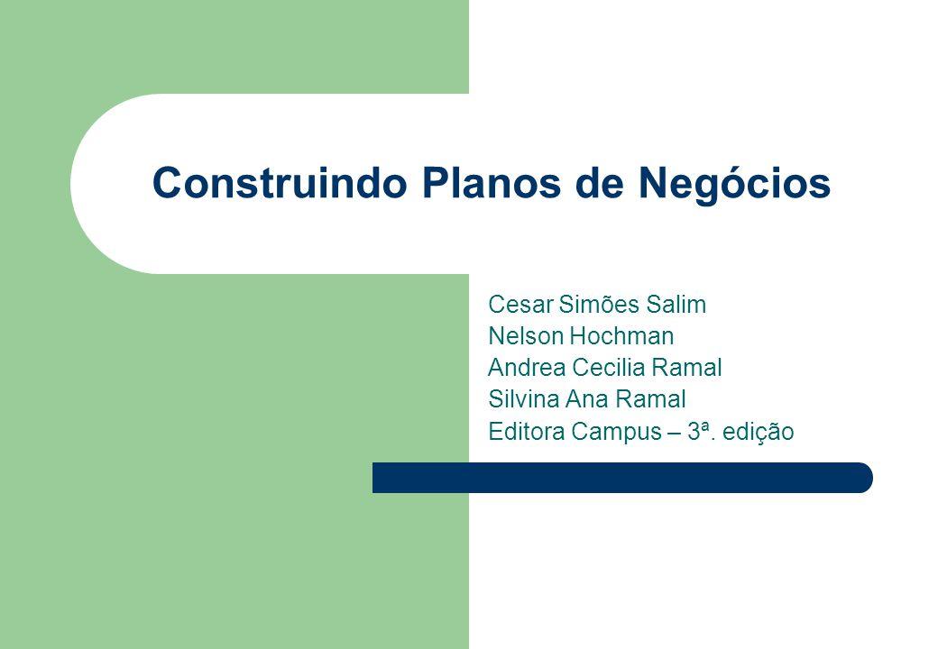Construindo Planos de Negócios Cesar Simões Salim Nelson Hochman Andrea Cecilia Ramal Silvina Ana Ramal Editora Campus – 3ª. edição