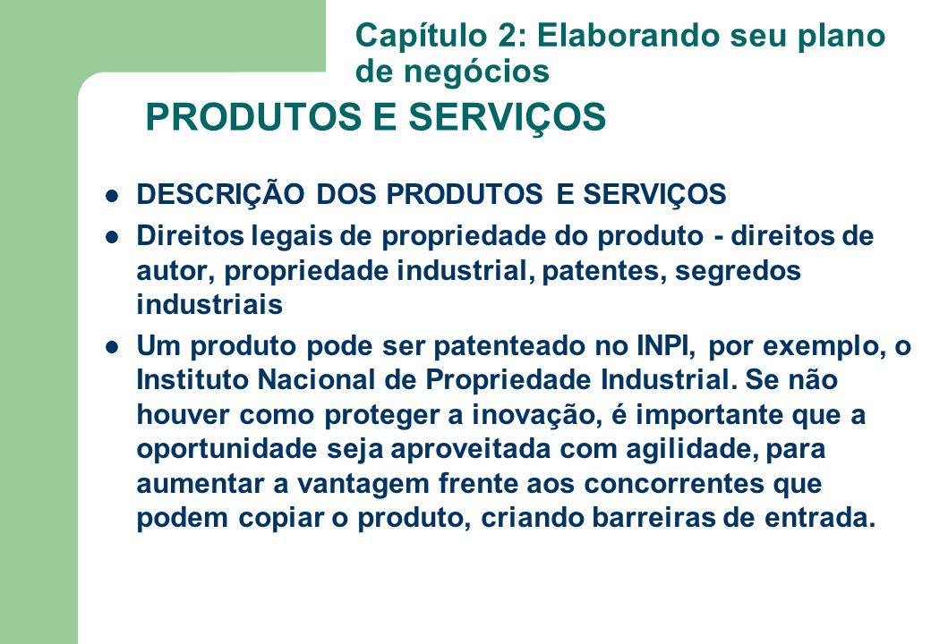 DESCRIÇÃO DOS PRODUTOS E SERVIÇOS Direitos legais de propriedade do produto - direitos de autor, propriedade industrial, patentes, segredos industriai