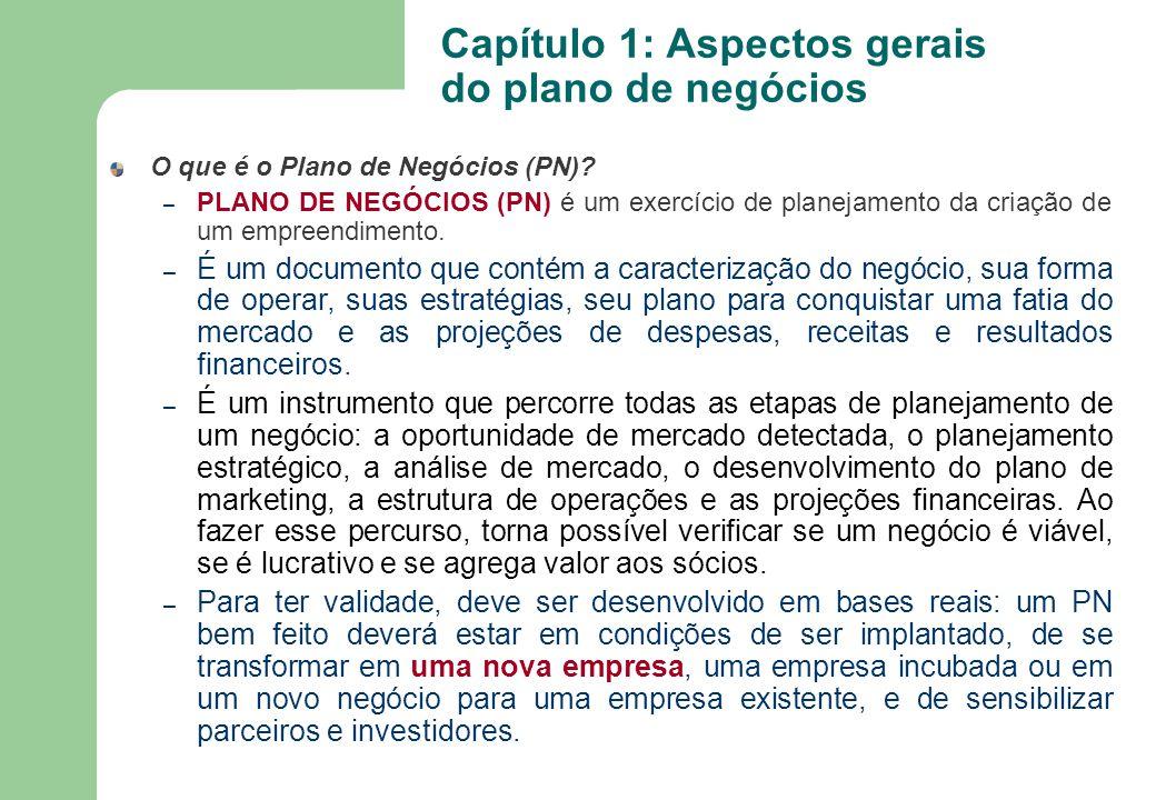 O que é o Plano de Negócios (PN)? – PLANO DE NEGÓCIOS (PN) é um exercício de planejamento da criação de um empreendimento. – É um documento que contém
