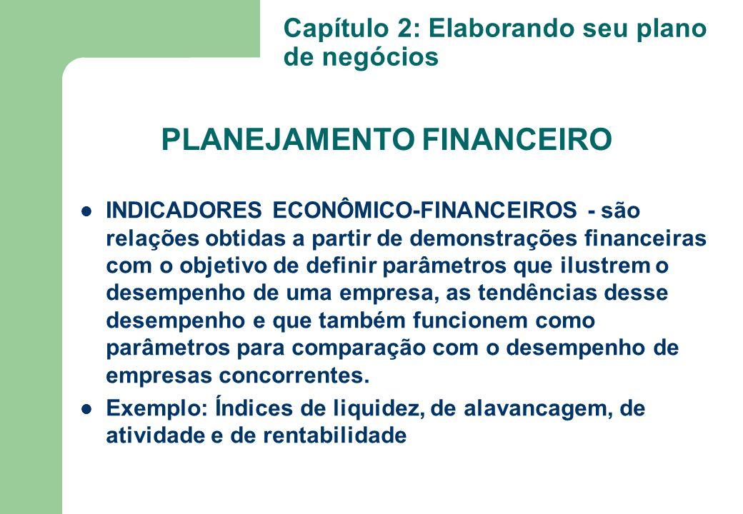 INDICADORES ECONÔMICO-FINANCEIROS - são relações obtidas a partir de demonstrações financeiras com o objetivo de definir parâmetros que ilustrem o des