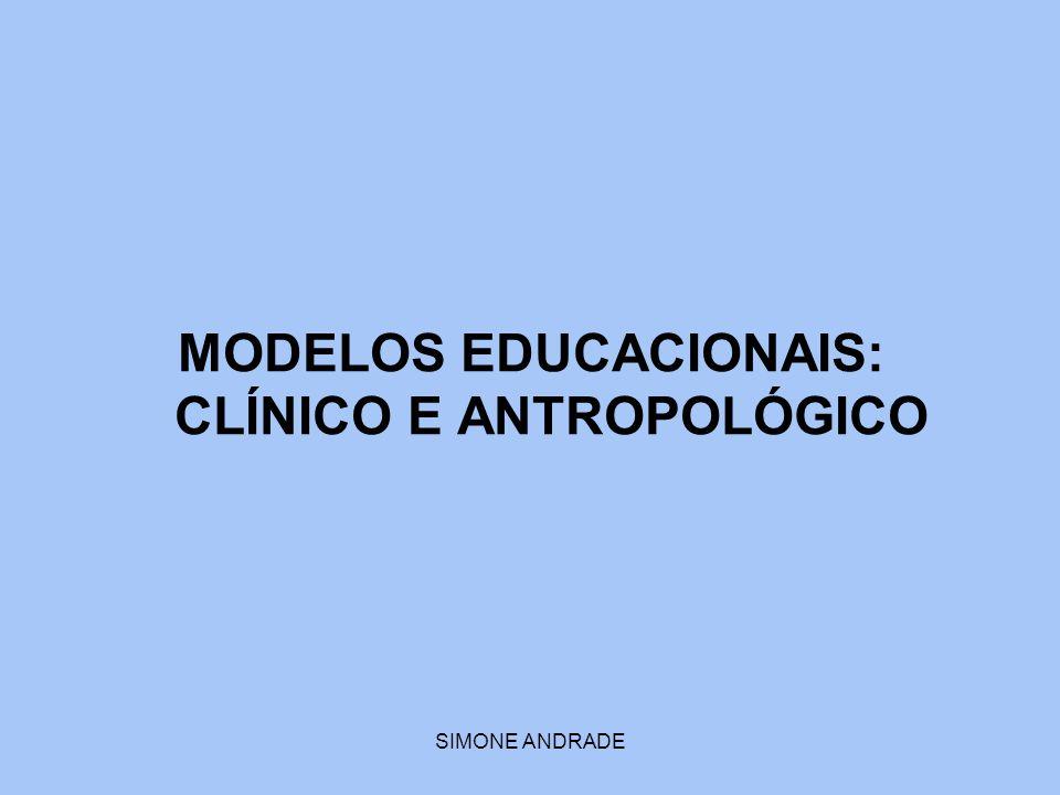 SIMONE ANDRADE MODELOS EDUCACIONAIS: CLÍNICO E ANTROPOLÓGICO