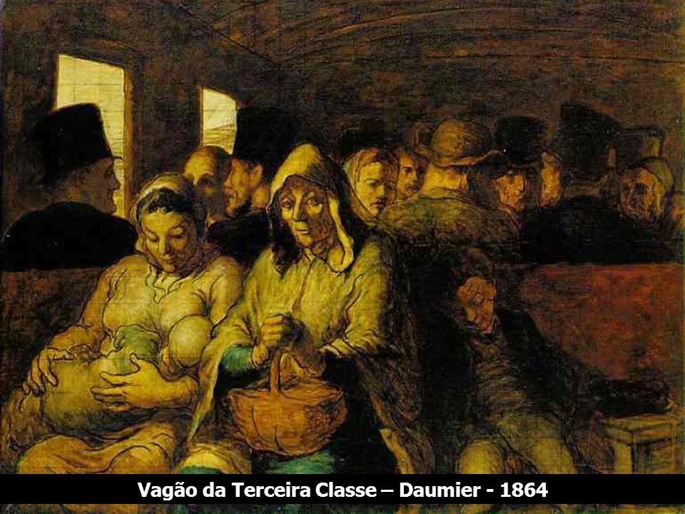 Quem sou eu? Vagão da Terceira Classe – Daumier - 1864
