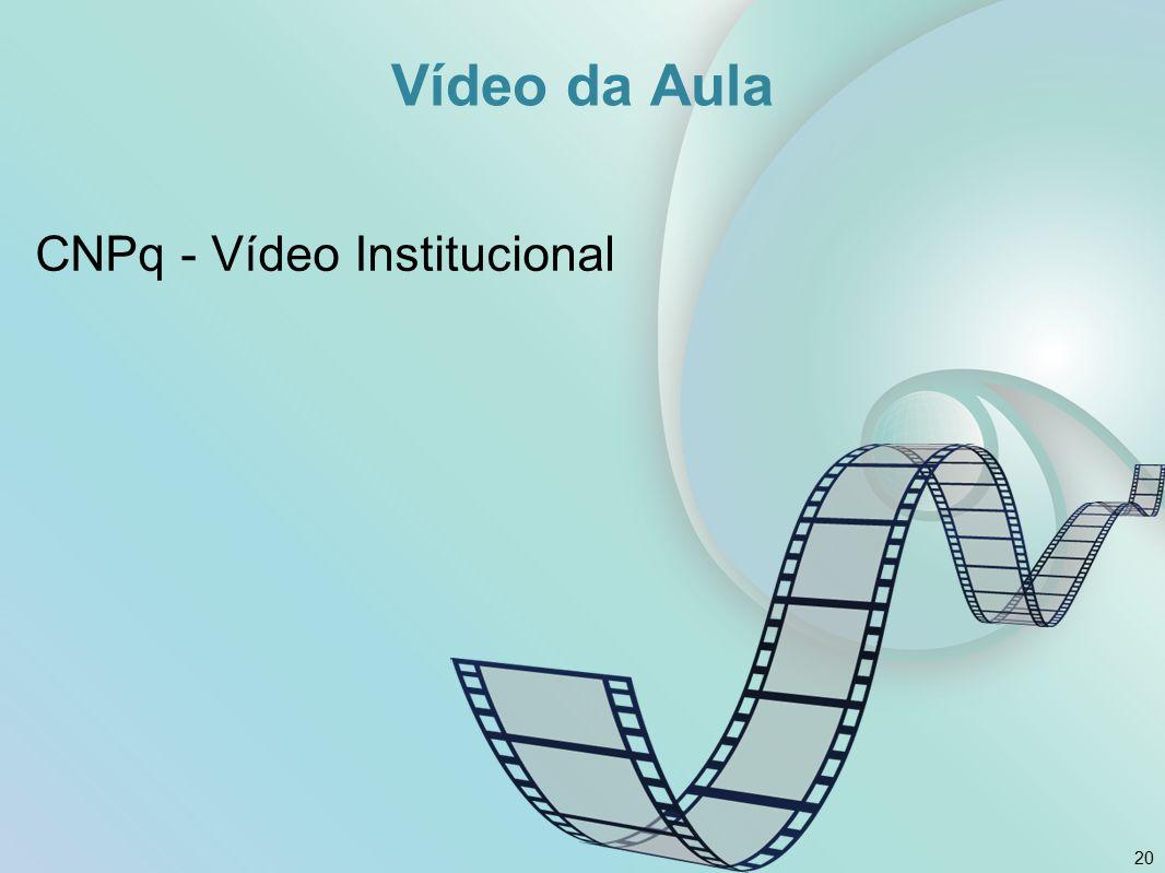 Vídeo da Aula CNPq - Vídeo Institucional 20