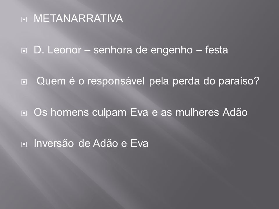  METANARRATIVA  D.