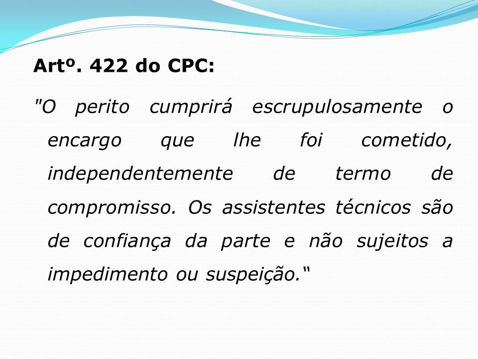 Artº. 422 do CPC: