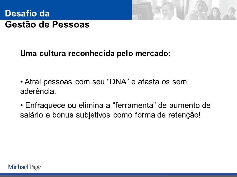 Uma cultura reconhecida pelo mercado: Atraí pessoas com seu DNA e afasta os sem aderência.