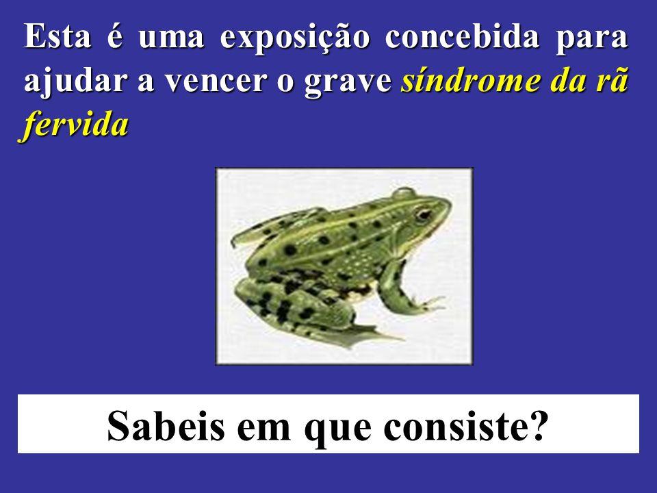 Esta é uma exposição concebida para ajudar a vencer o grave síndrome da rã fervida Sabeis em que consiste?