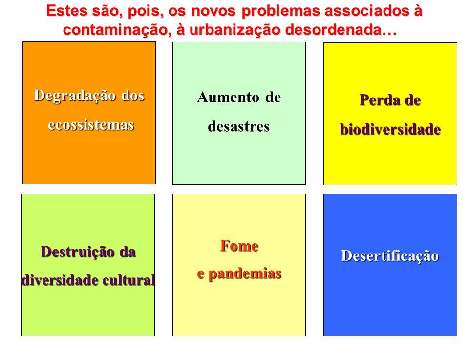 Estes são, pois, os novos problemas associados à contaminação, à urbanização desordenada… Estes são, pois, os novos problemas associados à contaminaçã