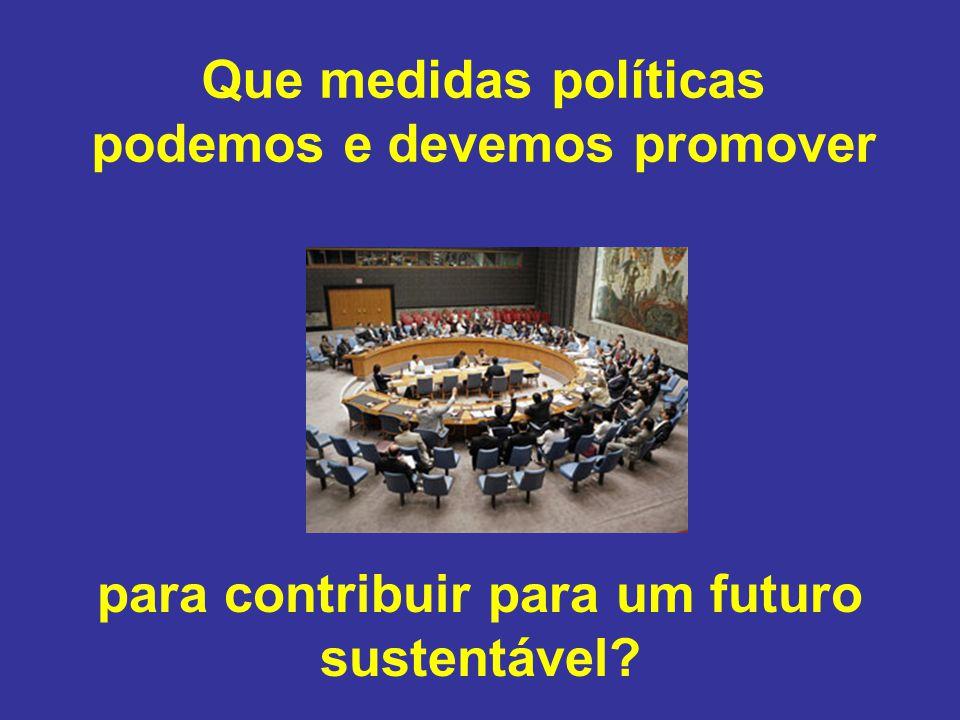Que medidas políticas podemos e devemos promover para contribuir para um futuro sustentável?