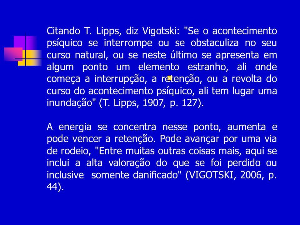 Citando T. Lipps, diz Vigotski: