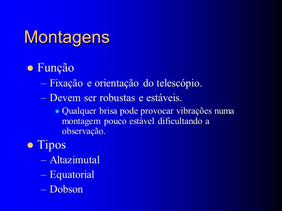 Montagens Função –Fixação e orientação do telescópio.