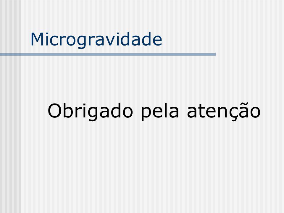 Microgravidade Obrigado pela atenção