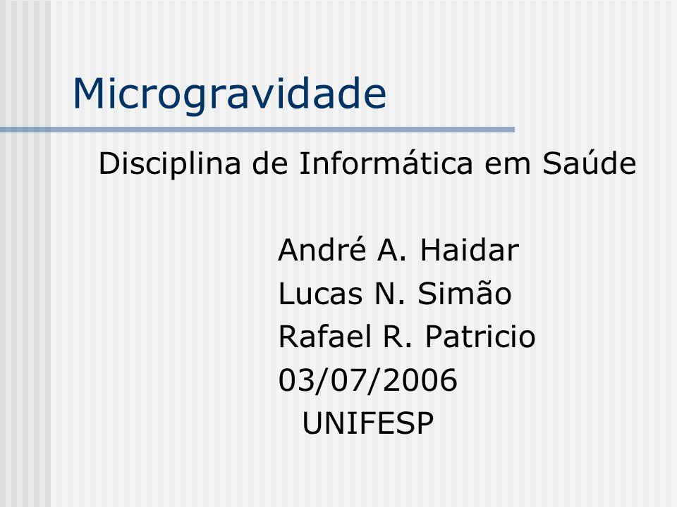 Disciplina de Informática em Saúde André A. Haidar Lucas N.
