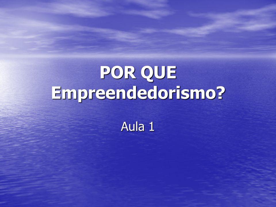 POR QUE Empreendedorismo? Aula 1