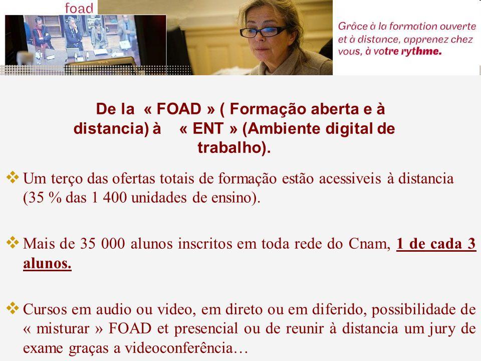 De la « FOAD » ( Formação aberta e à distancia) à « ENT » (Ambiente digital de trabalho).