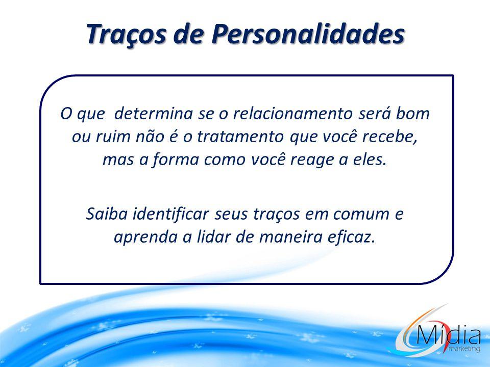 Traços de Personalidades O que determina se o relacionamento será bom ou ruim não é o tratamento que você recebe, mas a forma como você reage a eles.