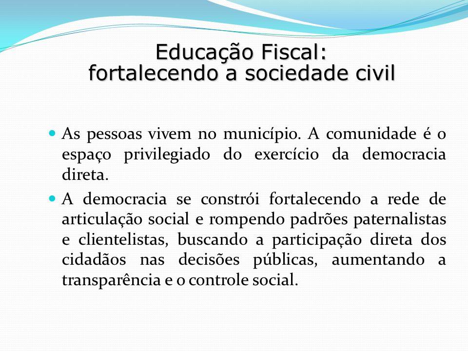 As pessoas vivem no município. A comunidade é o espaço privilegiado do exercício da democracia direta. A democracia se constrói fortalecendo a rede de