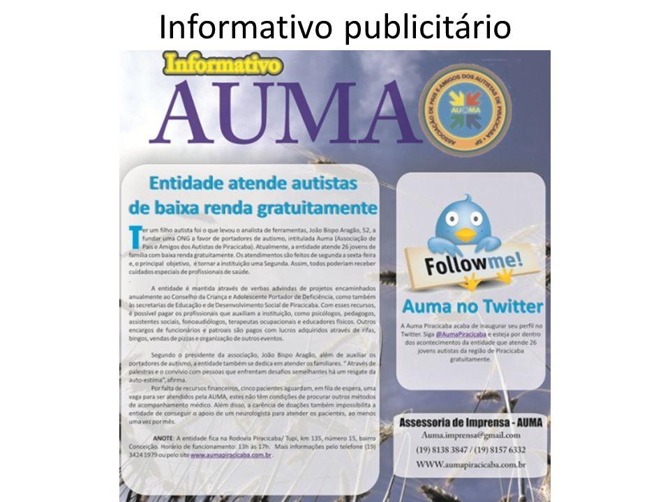 Informativo publicitário