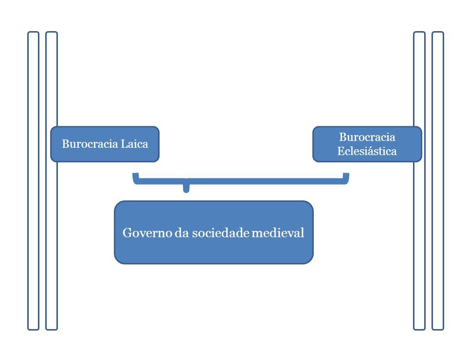 Burocracia Laica Governo da sociedade medieval Burocracia Eclesiástica