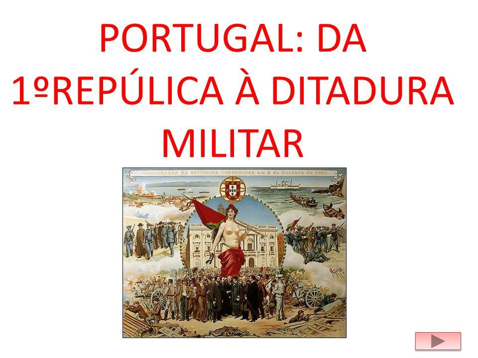 PORTUGAL: DA 1ºREPÚLICA À DITADURA MILITAR