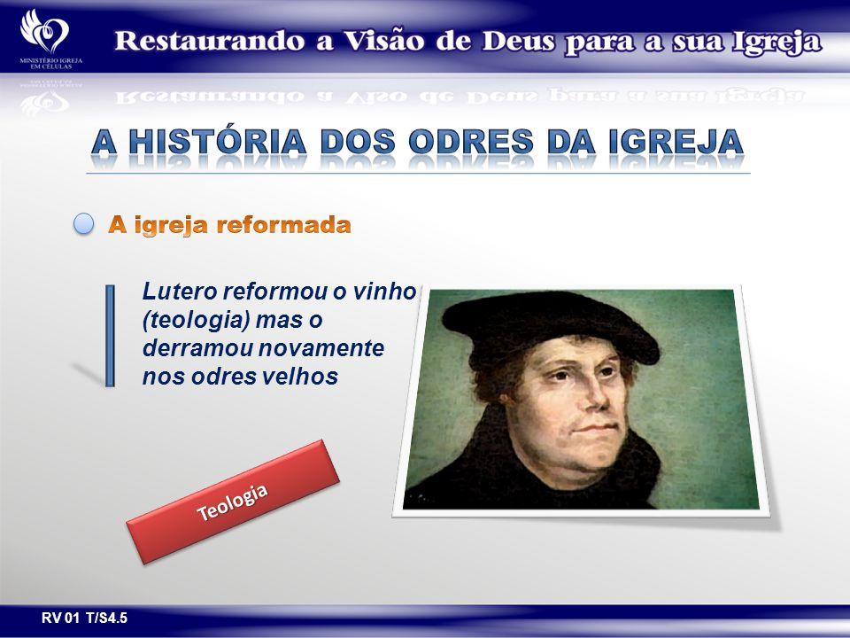 Lutero reformou o vinho (teologia) mas o derramou novamente nos odres velhos TeologiaTeologia RV 01 T/S4.5