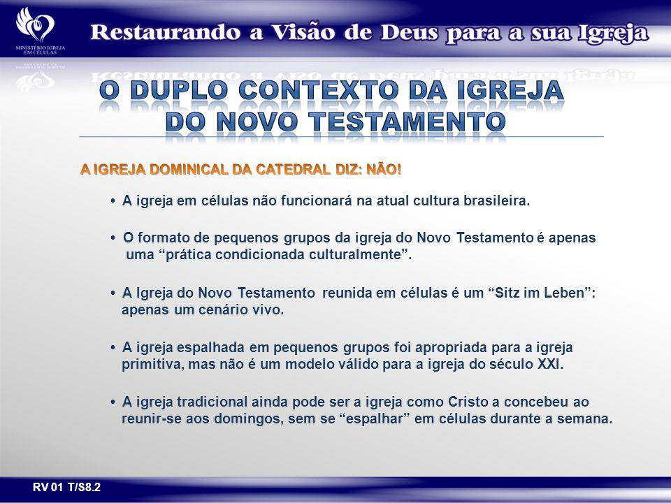 """A igreja em células não funcionará na atual cultura brasileira. O formato de pequenos grupos da igreja do Novo Testamento é apenas uma """"prática condic"""