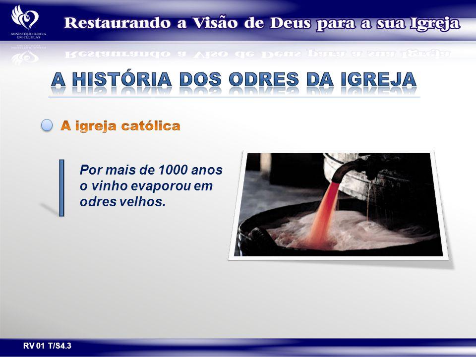 Por mais de 1000 anos o vinho evaporou em odres velhos. RV 01 T/S4.3