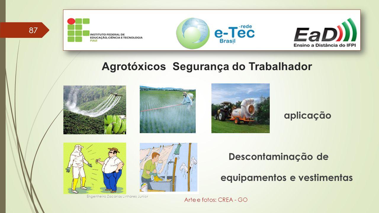 87 Agrotóxicos Segurança do Trabalhador aplicação Descontaminação de equipamentos e vestimentas Engenheiro Zacarias Linhares Junior Arte e fotos: CREA - GO
