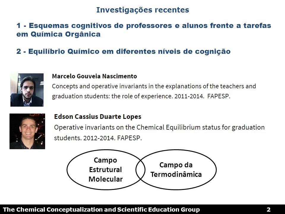 ATIVIDADE HUMANA E CONCEITUAÇÃO EM QUÍMICA 2 The Chemical Conceptualization and Scientific Education Group2 Investigações recentes Campo Estrutural Mo