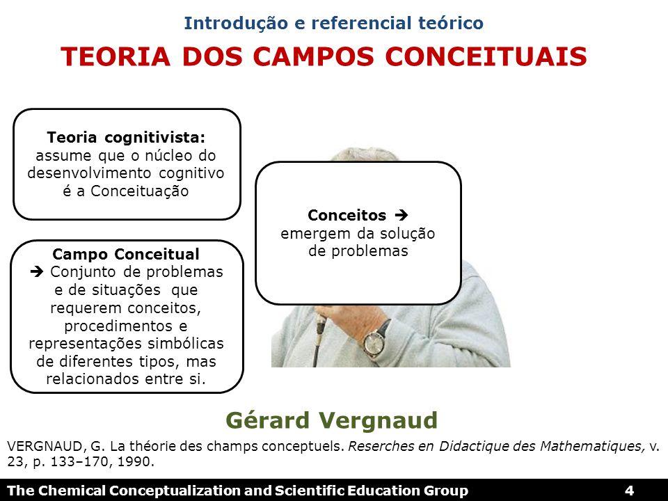 TEORIA DOS CAMPOS CONCEITUAIS Gérard Vergnaud VERGNAUD, G. La théorie des champs conceptuels. Reserches en Didactique des Mathematiques, v. 23, p. 133