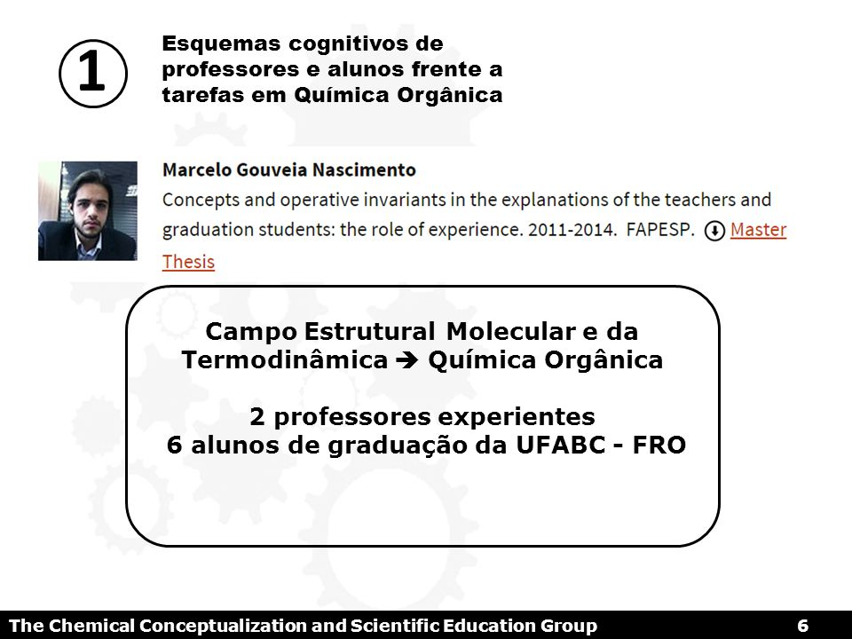 The Chemical Conceptualization and Scientific Education Group 47 REFERENCIAS ANDRES Z., M.A.