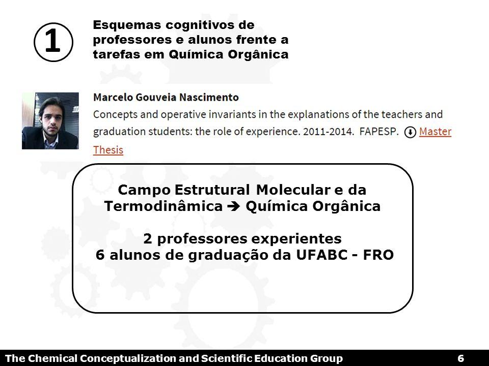 The Chemical Conceptualization and Scientific Education Group7 Conceitos S.R.I S – Situações (Tarefas) R – Representações Simbólicas I – Invariantes operatórios
