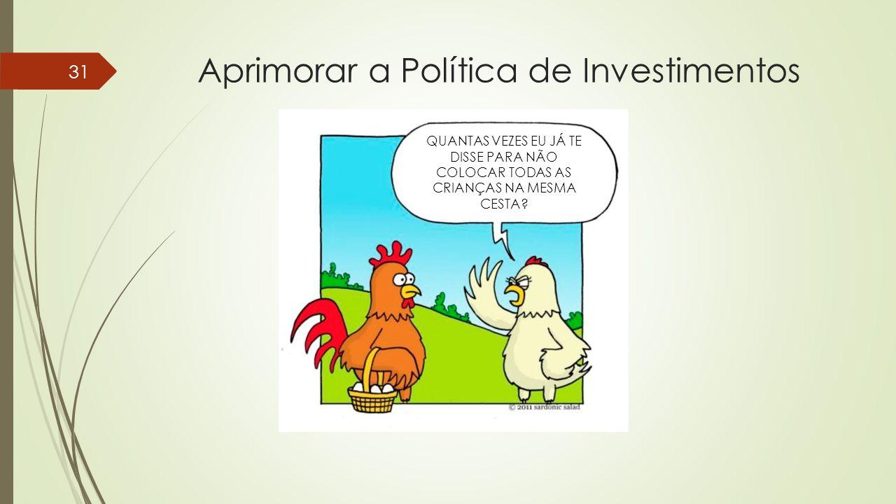 Aprimorar a Política de Investimentos 31 QUANTAS VEZES EU JÁ TE DISSE PARA NÃO COLOCAR TODAS AS CRIANÇAS NA MESMA CESTA?