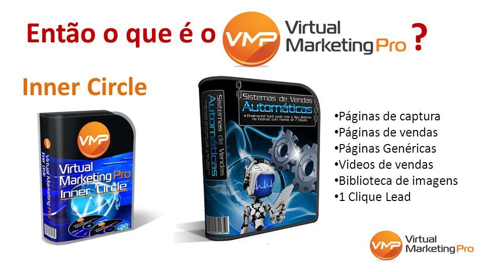 Então o que é o Inner Circle Páginas de captura Páginas de vendas Páginas Genéricas Videos de vendas Biblioteca de imagens 1 Clique Lead ?
