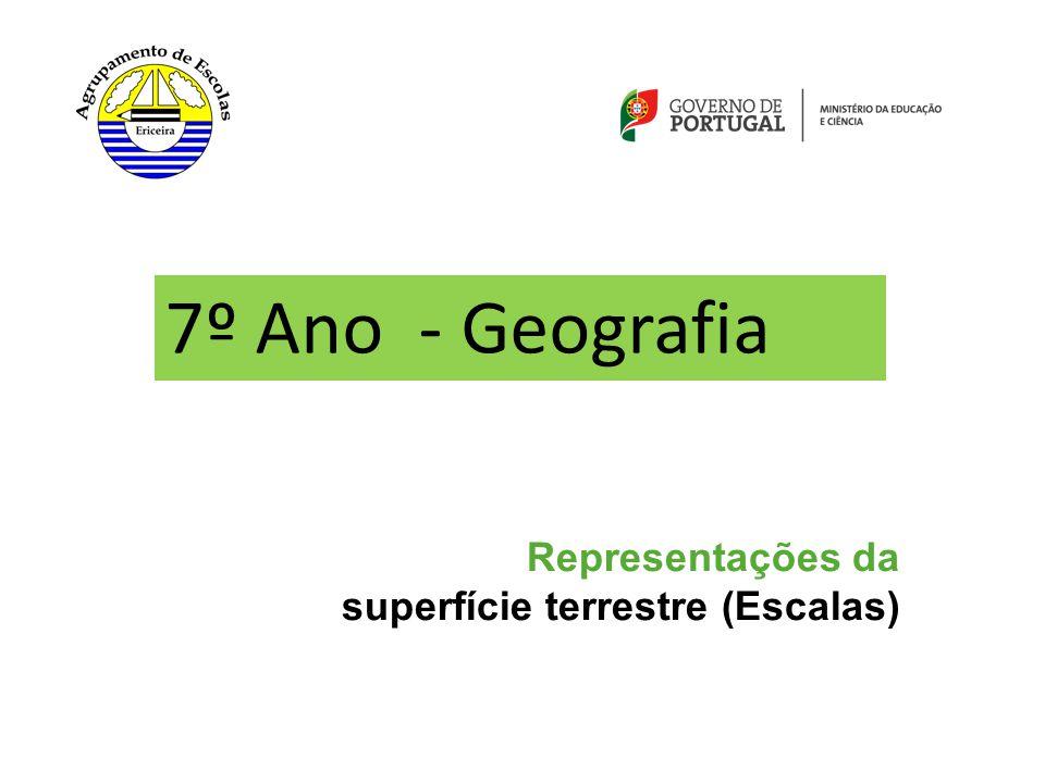 Representações da superfície terrestre (Escalas) 7º Ano - Geografia