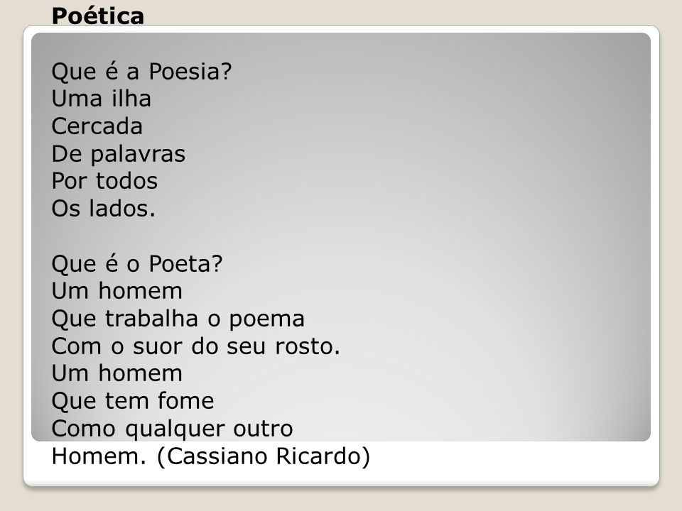 Poética Que é a Poesia.Uma ilha Cercada De palavras Por todos Os lados.